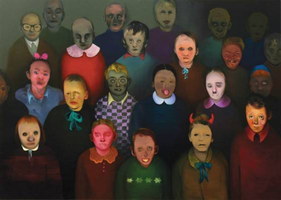Group portrait,  200x260 cm, oil on canvas, 2009