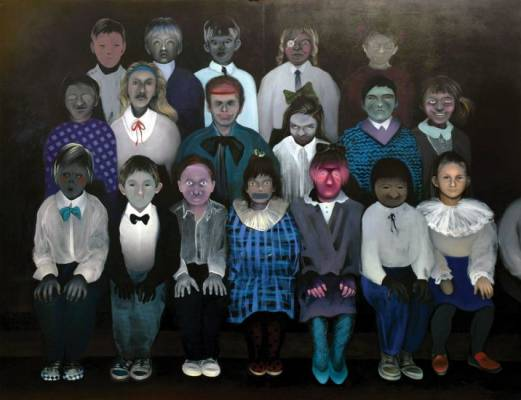 Our class, 200x260 cm, oil on canvas, 2009